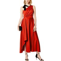 Karen Millen One Shoulder Draped Dress, Orange/Multi