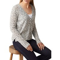 Pure Collection Gassato Cashmere Cardigan, Animal Print