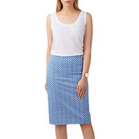 Pure Collection Mosaic Print Pencil Skirt, Blue
