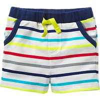 Mini Boden Baby Jersey Stripe Shorts, Multi