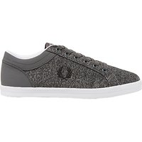 Fred Perry Baseline Fabric Trainers, Falcon Grey/Black