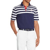 Polo Golf By Ralph Lauren Ryder Cup Stripe Polo Shirt, French Navy/White
