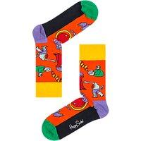 Happy Socks Beatles Monster Socks, One Size, Orange