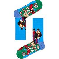 Happy Socks Beatles Pepperland Socks, One Size, Blue/Multi