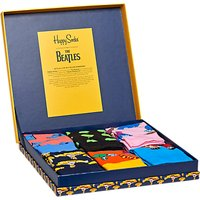 Happy Socks The Beatles Collector Socks, One Size, Pack of 6, Multi