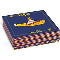Happy Socks The Beatles Socks Gift Box, One Size, Pack of 3, Multi