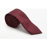 Calvin Klein Fine Dot Silk Tie, Red