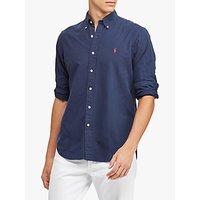 Polo Ralph Lauren Long Sleeve Slim Fit Button Down Shirt, Navy