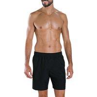 Speedo Check Trim Leisure 16 Swimming Watershorts, Black