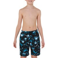 Speedo Boys' Dinosaur Print Leisure Watershorts, Dinotopia Black/Windsor Blue