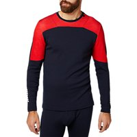 shop for Helly Hansen Lifa Merino Mix Base Layer Crew Top, Navy/Red at Shopo