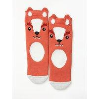 John Lewis & Partners Children's Fox Slipper Socks, Orange