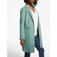 Great Plains Double Face Tailored Coat, Soft Teal