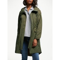 Great Plains High Neck Long Parka Coat, Green Smoke