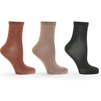 Numph Glitter Socks, Pack of 3, Multi