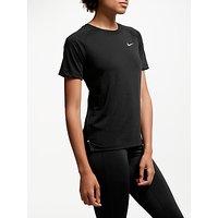 Nike Breathe Tailwind Short Sleeve Running Top, Black