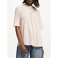 Iden Cotton-Silk Blend Fleck Top, Blush