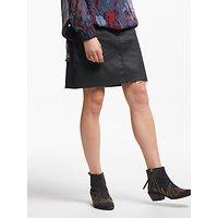 And/or Coated Denim Mini Skirt, Black