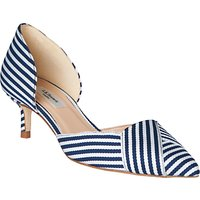 L.K.Bennett Steph Two Part Kitten Heel Court Shoes, Blue/White