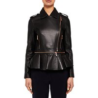 Ted Baker Ahfiraa Leather Biker Jacket, Black