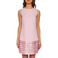 Ted Baker Marggia Satin Loop Shift Dress, Pale Pink