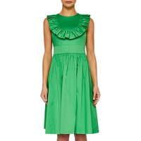 Ted Baker Awrah Ruffle Detail Flared Dress, Bright Green