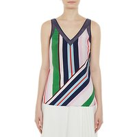 Ted Baker Calixto Bay of Honour Wide Stripe Silk Cami Top, Blush/Multi