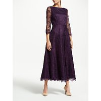 Bruce by Bruce Oldfield Lace 3/4 Sleeve Dress, Wine Tasting