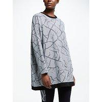 PATTERNITY + John Lewis Crackle Printed Sweatshirt, Black/Grey