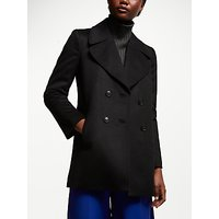 John Lewis & Partners Revere Collar Pea Coat, Black