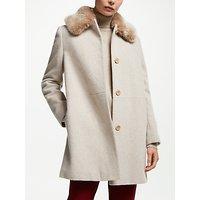 John Lewis & Partners Detachable Fur Collar Coat