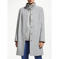 John Lewis & Partners Funnel Neck Coat, Soft Grey