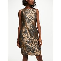 Bruce by Bruce Oldfield Jacquard Shift Dress, Bronze/Grey