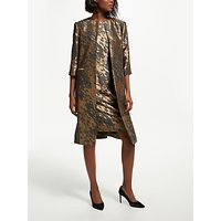 Bruce by Bruce Oldfield Jacquard Frock Coat, Bronze/Grey