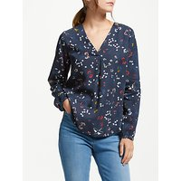Armedangels Felicitas Wood And Willow Blouse, Navy
