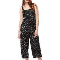 Sugarhill Brighton Millie Colour Spot Cropped Jumpsuit, Black/Multi