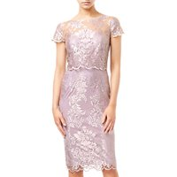 Adrianna Papell Metallic Embroidered Dress, Lily Rose Pink