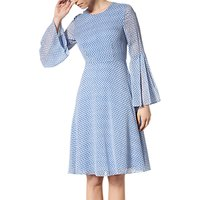 L.K. Bennett Abbie Silk Dress, Blue