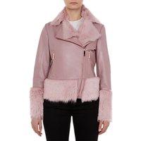 Ted Baker Serer Shirling Biker Jacket, Pink
