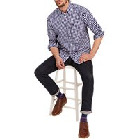 Joules Long Sleeve Check Oxford Shirt, Blue