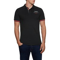 Hackett London Aston Martin Racing Polo Shirt, Black