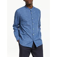 JOHN LEWIS & Co. Grandad Collar Chambray Shirt, Blue