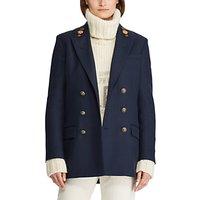 Polo Ralph Lauren Wool Twill Double-Breasted Blazer, Aviator Navy