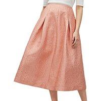 Jaeger Full A-Line Skirt, Pink