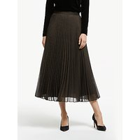 Bruce by Bruce Oldfield Pleated Skirt, Metallic Bronze