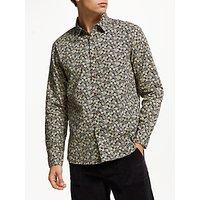 JOHN LEWIS & Co. Slub Yarn Tile Print Shirt, Blue