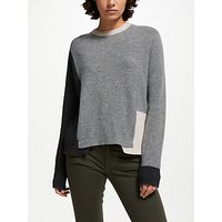 360 Sweater Akima Ribbed Jumper, Graphite/heather Grey/buff