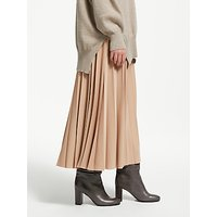 Modern Rarity Sunray Pleated Midi Skirt, Camel