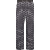 Calvin Klein Logo Pattern Cotton Pyjama Pants, Black