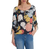 Betty Barclay Floral Print Blouse, Blue/Multi